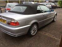 bmw convertible 2003 silver 2 owners from new half leather