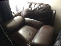 Reclining leather armchair, good condition