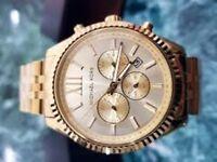 New Michael Kors Gold Lexington Watch