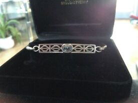 Ladies 925 silver Rennie Macintosh style bracelet