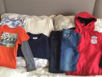 Boys bundle of clothing 7 years and size 1 trainer