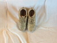 Gold Glitter Casual/ trainers