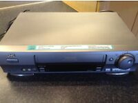 JVC video cassette recorder with remote