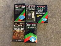 oxford dictionaries ,quote,english grammar,proverbs,thesaurus x 5 books