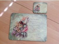 Matching Fairy Table Mats and Coasters