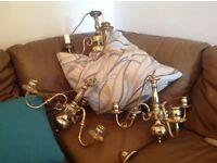 3 X brass Chandeliers