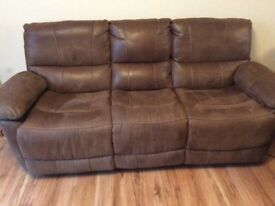 3 seater reclining sofa with single electric reclining chair