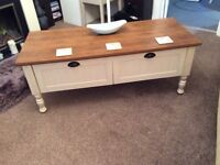 Two Drawer Coffee Table.