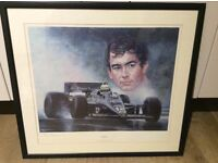 Picture of ayrton senna signed by Peter Deighton