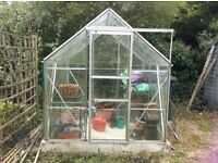 8x6 ft greenhouse and compost bin