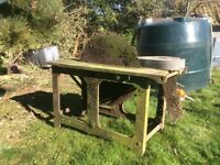 Saw bench ,tractor barn find restoration wood saw