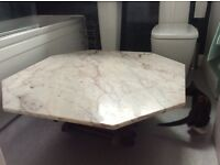 Marble Hexagon shape coffee table