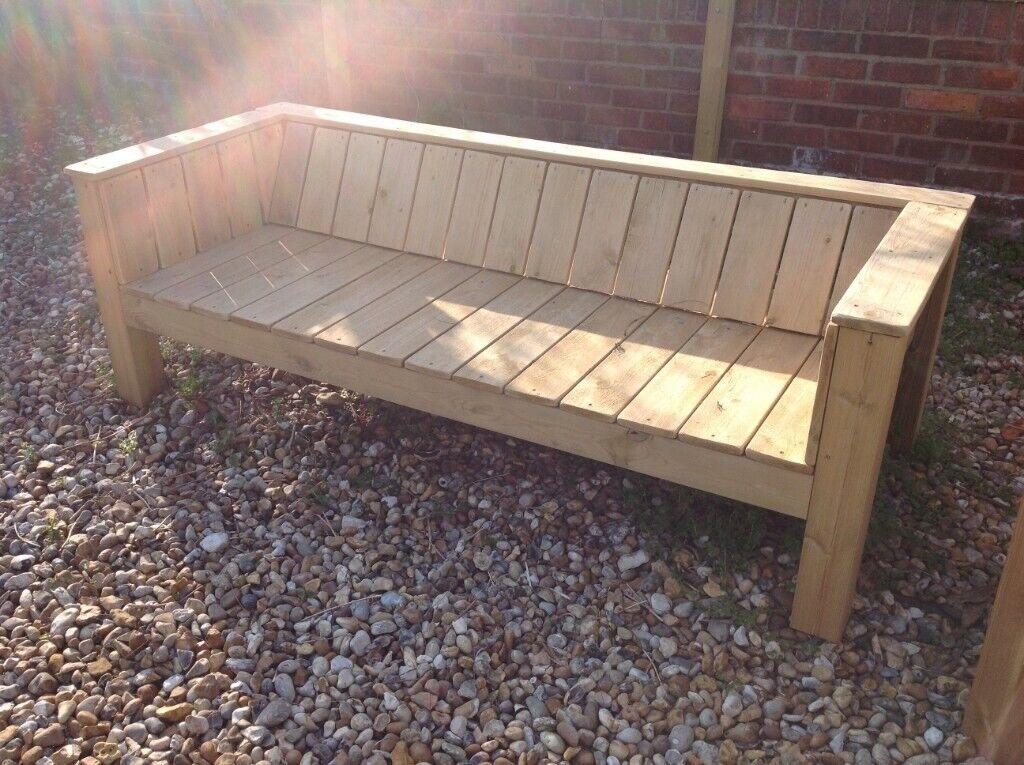 Luxurious Sofa Style Solid Wooden Garden Bench In Saltdean East Sussex Gumtree