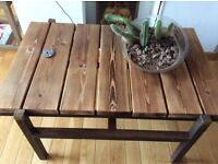 Bespoke made contemporary industrial style coffee table - Free delivery