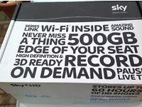 Sky HD set top box, HDMI, Wifi inbuilt, 500gb storage.