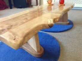 Coffee Table solid hardwood, Natural edge.