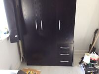Black 3door wardrobe