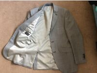 3 piece grey check men's suit - ideal for prom - worn twice- excellent condition.
