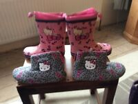 Hello kitty wellies and slippers
