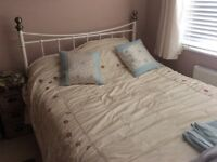 Metal bed frame without mattress in great condition only £20 buyer must collect