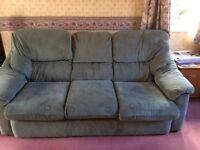 G Plan Cadiz 3 seater sofa, 2 seater sofa & armchair in sage green
