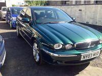 2003/03 jaguar X-type 2099cc v6 70000miles 2 owners f.s.h. £2250