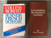 French business dictionary and international trade volcabulary book