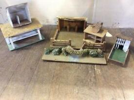 Selection of Scratch Built Model Farm Buildings