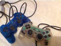 2 rare dual control ps1 controllers in good condition