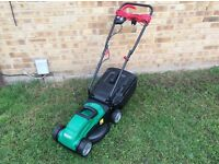 VERY CLEAN 1200W QUALCAST CORDED ROTARY LAWN MOWER / LAWNMOWER