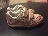 Girls Clarks Trainers 7.5 F used
