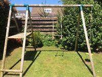 Plum giant baboon play swing set