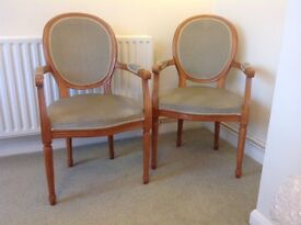 2 Lexterton Viceroy carver chairs. Upholstered back, arm rest and seat. Good condition.