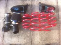 BMW E46 springs, wing mirrors and air filter