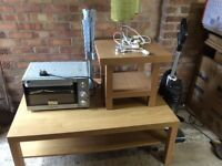 Free table, lamps, mini oven, hoover etc