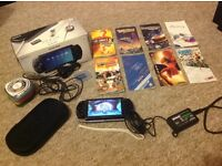 PSP PlayStation bundle with 8 games