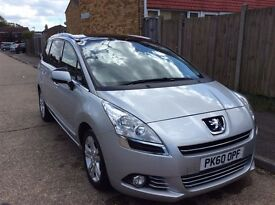 2010 Peugeot 5008 Semi-automatic Diesel Silver
