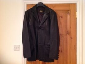 Vintage Men's soft leather Black jacket.
