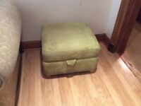 Foot stool in light green