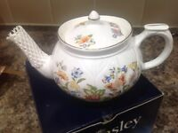 Aynsley small teapot, single cup, brand new
