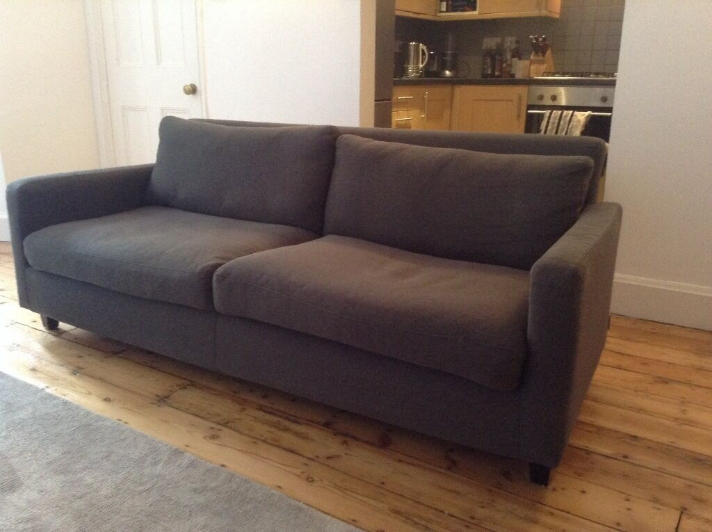Habitat 3 Seater Chester Sofa Charcoal Grey In Camden