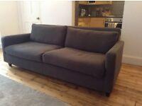 Habitat 3 seater Chester sofa - Charcoal Grey
