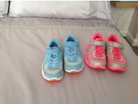 Girls size 12 nike trainers