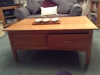 Laura Ashley Solid Ash Wood Coffee Table with four drawers