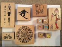 Rubber crafting stamps