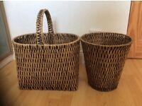 Magazine basket and waste paper bin