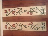 Hand Painted tube line tiles