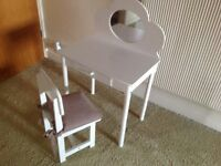 Mini dressing table and chair for young child, not new, but in good condition