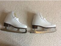 Ladies white ice skates