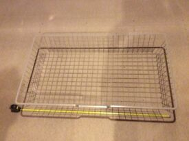 Two Mesh Baskets with pull out rail fittings- for ikea pax double wardrobe